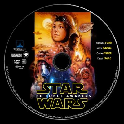 Star Wars the Force Awakens DVD mockup fake
