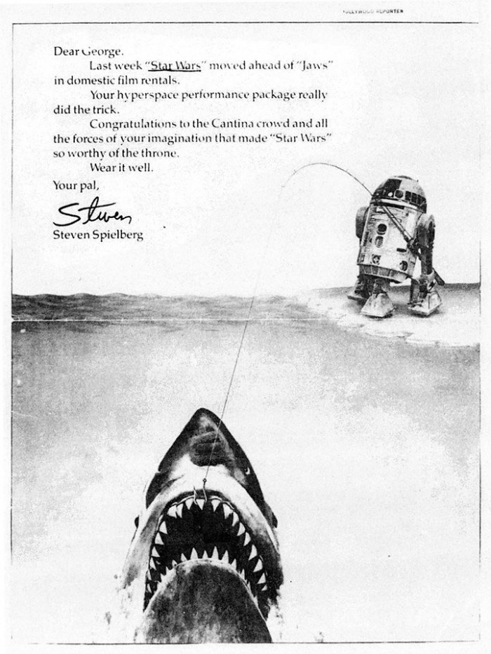 Steven-Spielbergs-Ad-Congratulating-George-Lucas-For-Star-Wars