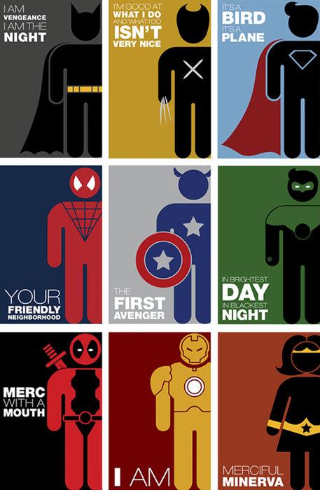 Superhero Pictograms