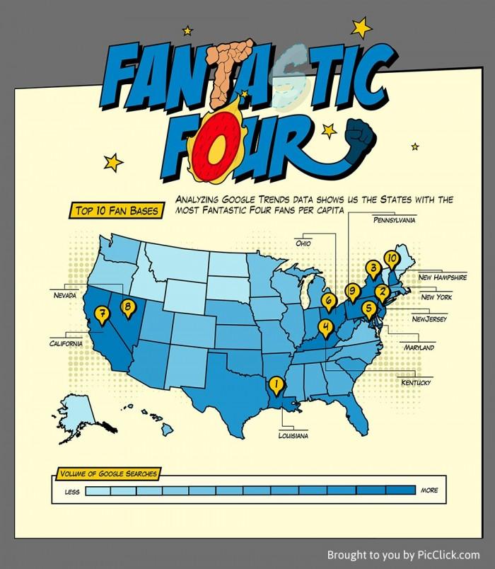 Superhero fan map