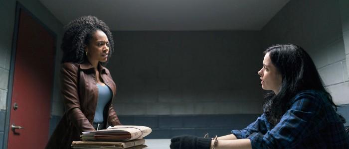 The Defenders - Misty Knight (Simone Missick) and Jessica Jones (Krysten Ritter)