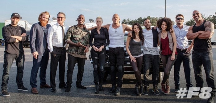 The Fate of the Furious - BTS group shot