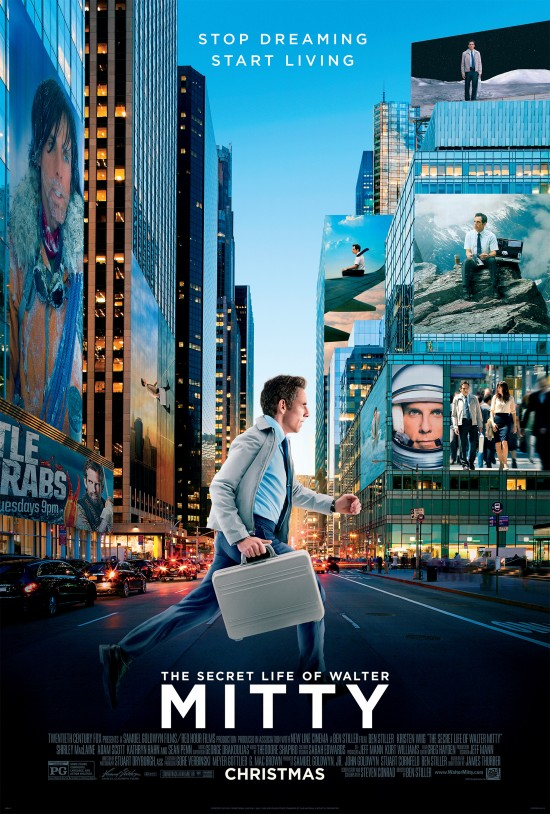 The Secret Life of Walter Mitty poster