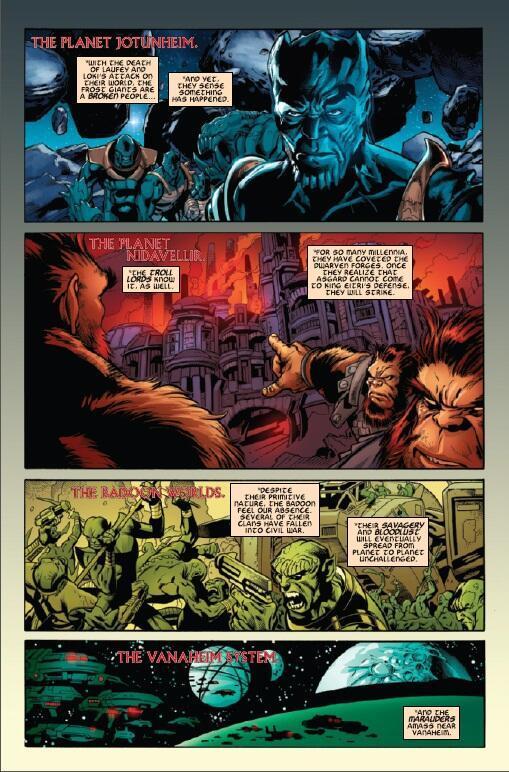 Thor Dark World Prelude Comic