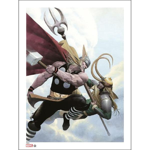 Thor and Loki print by Esad Ribic