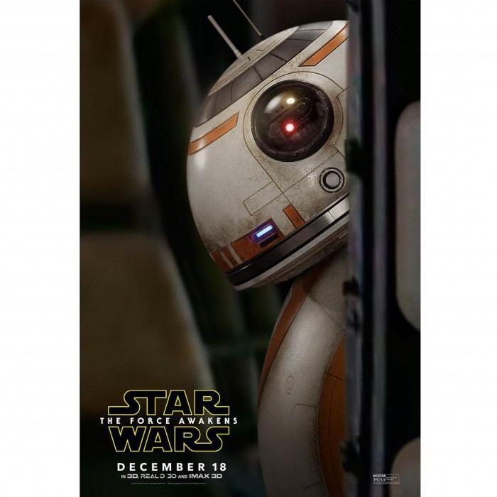 Star Wars: The Force Awakens character poster featuring BB-8