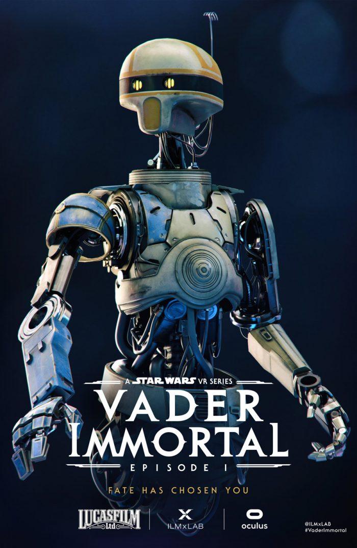 Vader Immortal Zoe character poster