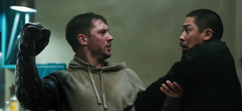Tom Hardy Battles for Control of His Body in New 'Venom