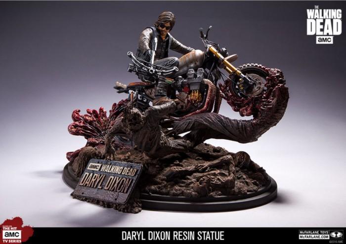 Walking Dead Daryl Dixon On Bike Resin Statue From McFarlane