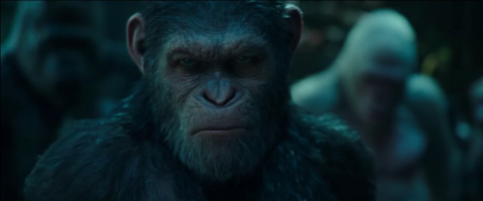 War for the Planet of the Apes beach ceasar angry