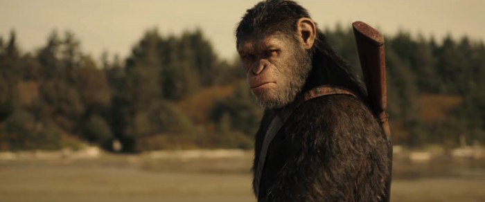 War for the Planet of the Apes beach ceasar on horseback