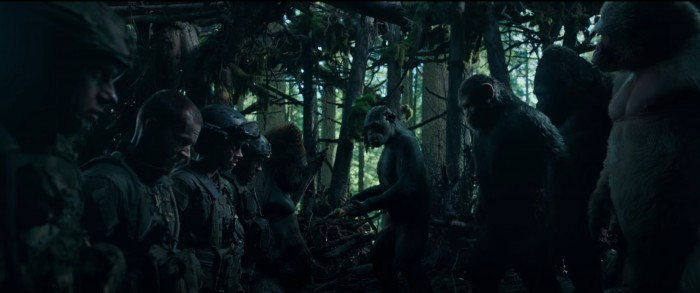 War for the planet of the apes human capture