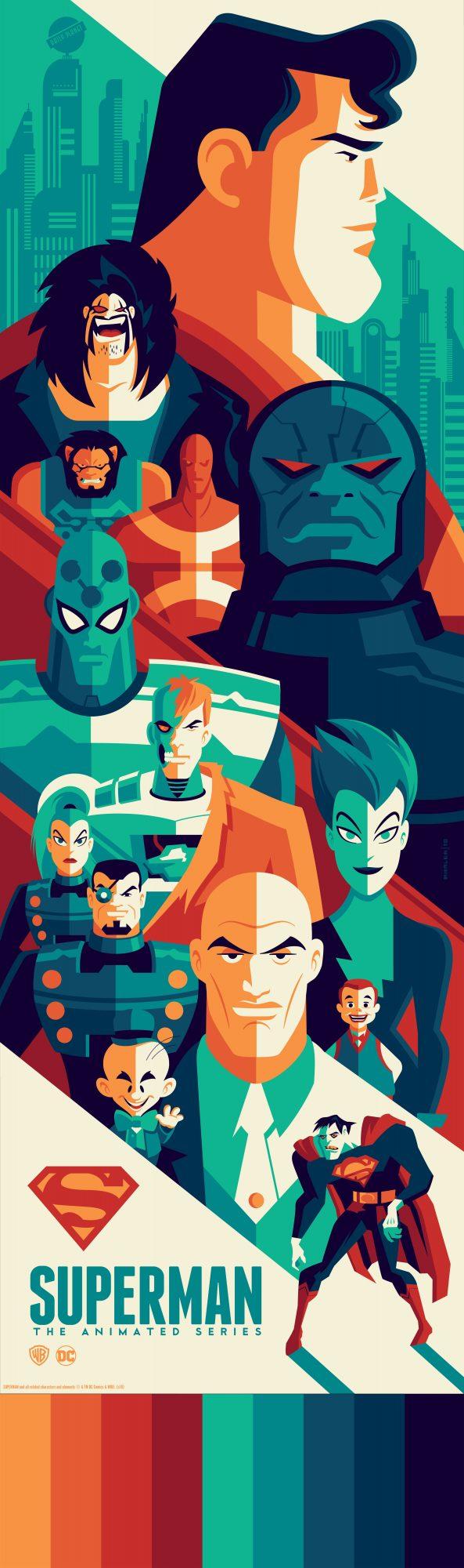 "Tom Whalen ""Superman: The Animated Series"" Screen print"