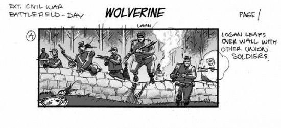 Wolverine storyboard
