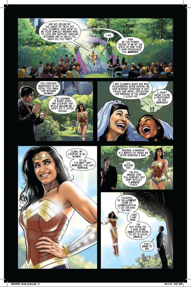 Wonder Woman gay marriage
