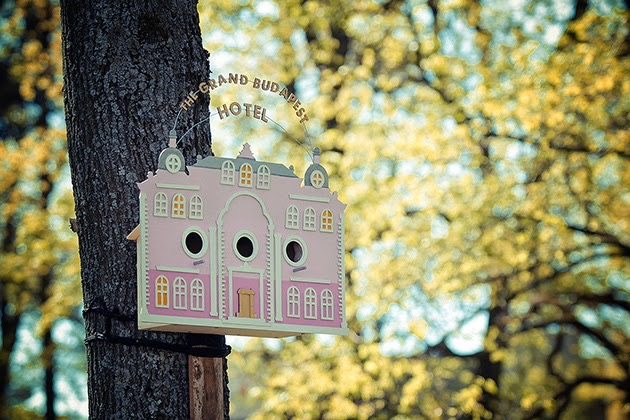 The Tiny Grand Budapest Hotel birdhouse