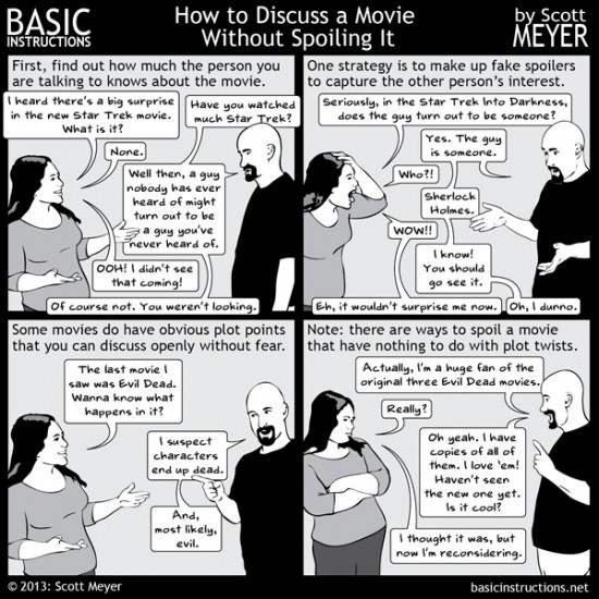 How to discuss a movie without spoiling it