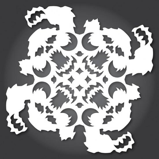 Star Wars Cut Paper Snowflakes