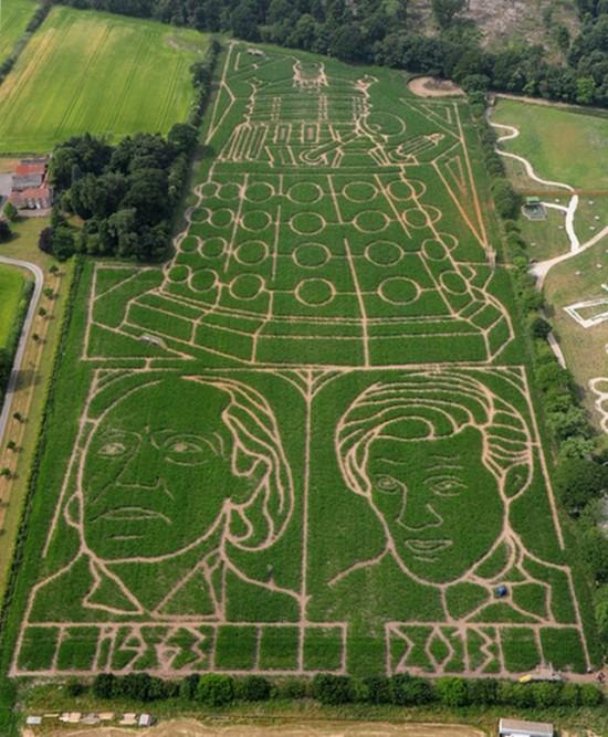 A Giant Dalek Corn Maze In England