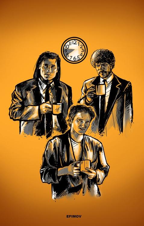 Pulp Fiction art by Ivan Efimov