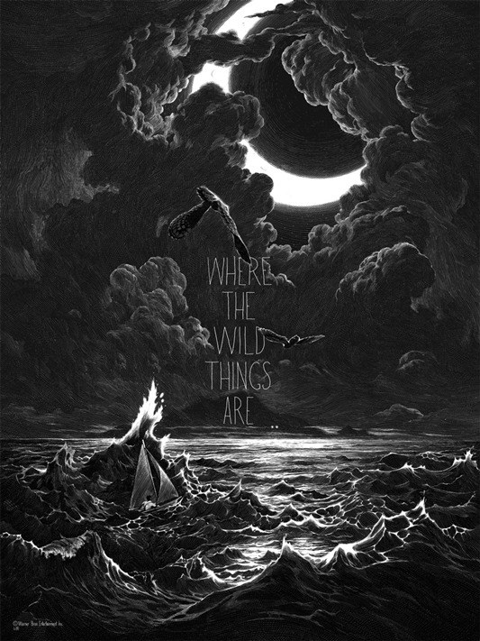 Nicolas Delort's Where the wild things are print