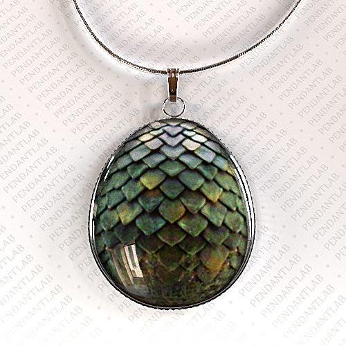 Game Of Thrones Green Dragon Egg Pendant