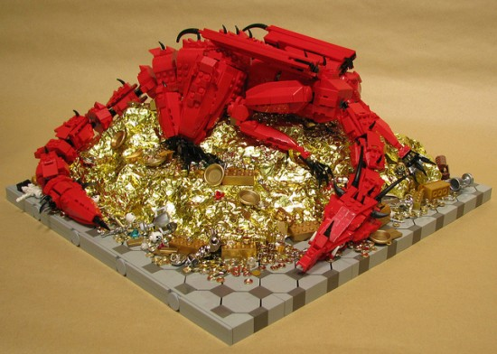 LEGO Smaug, Inspired by J. R. R. Tolkien's 'The Hobbit'