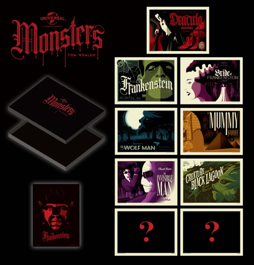 The Universal Classic Monsters Print Portfolio by Tom Whale