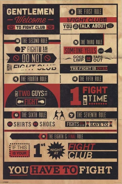 Fight Club infographic poster