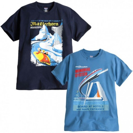 Matterhorn Bobsleds and Monorail Shirts