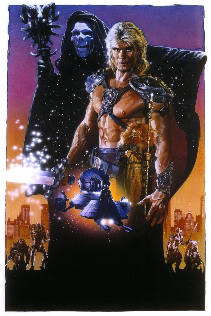 Masters of the Universe movie poster art by Drew sSruzan