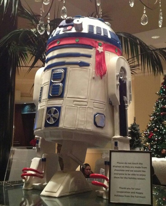 Life-Size White Chocolate R2-D2