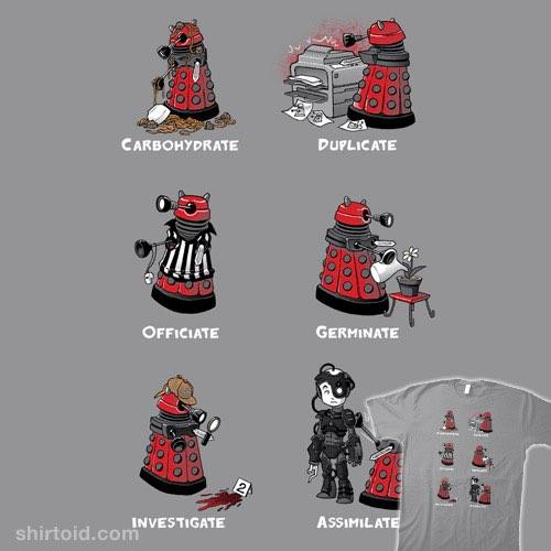 Busy Little Dalek t-shirt
