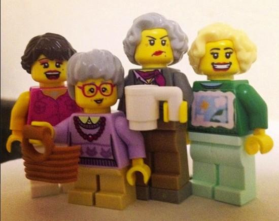 Golden Girls LEGO Minifig Set