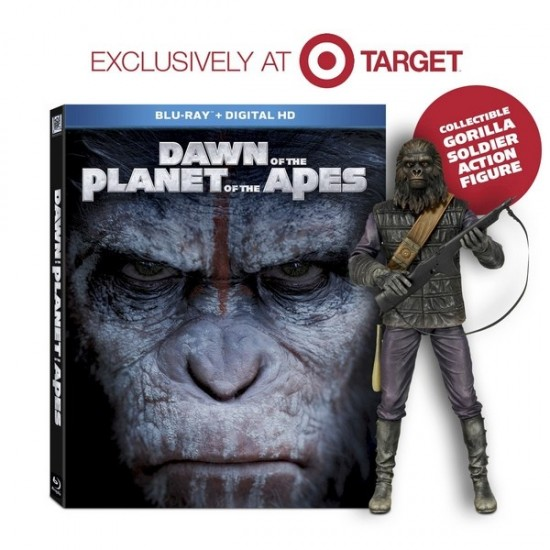 Target Exclusive Dawn of the Planet of the Apes Blu-Ray With NECA Figure