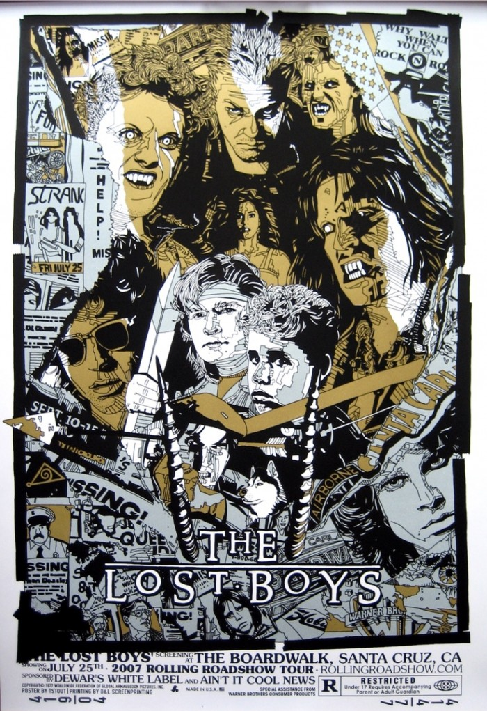 The Lost Boys print by Tyler Stout from Mondo