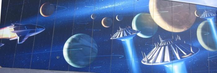 Space Mountain Mural