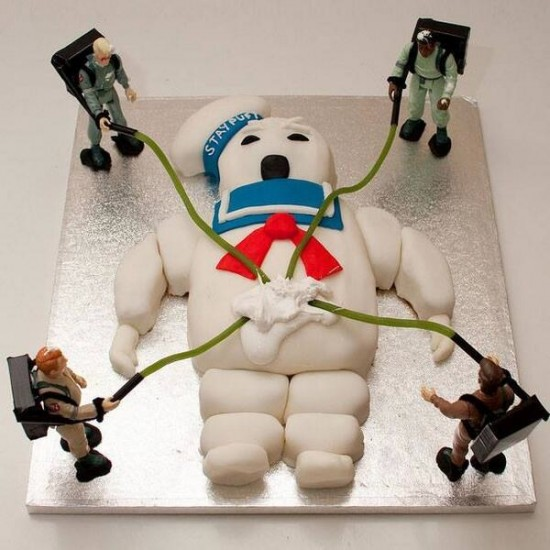 Stay Puft Marshmallow Cake