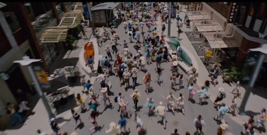 Havoc at Jurassic World's downtown district