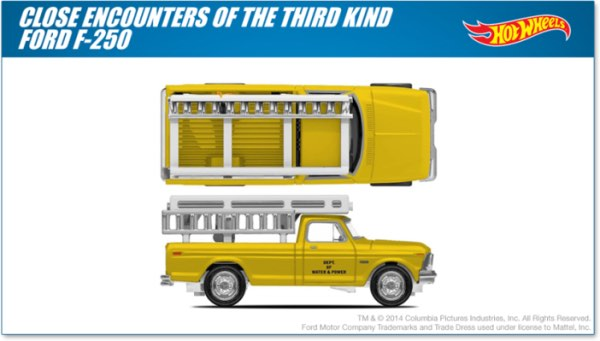 Hot Wheels are making a toy out of the truck Roy Neary drives in Close Encounters of the Third Kind
