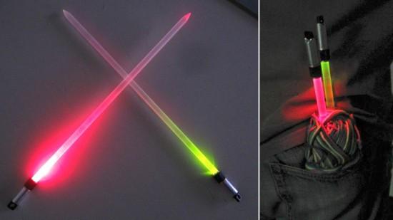 Lightsaber Knitting Needles