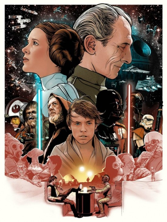 Star Wars Print By Joshua Budich