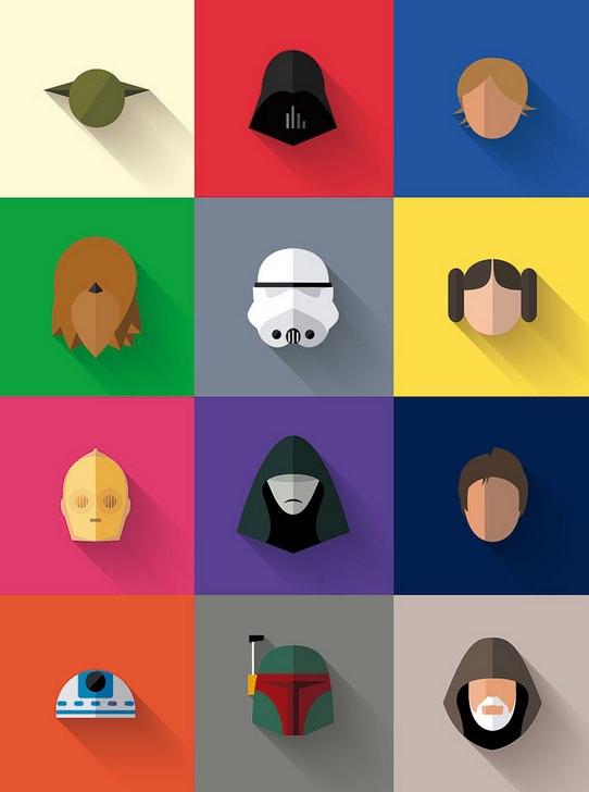 Star Wars Design Icons by: Filipe De Carvalho