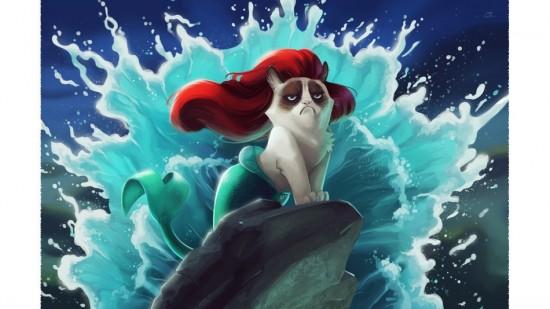 Grumpy Cat Little Mermaid