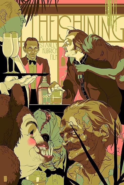 THE SHINING 9 color print by Tomer Hanuka