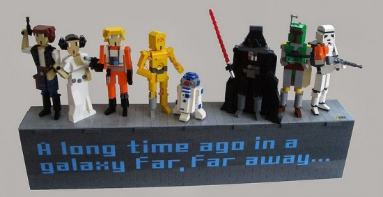 Lego Star Wars figurines by Rod Gillies