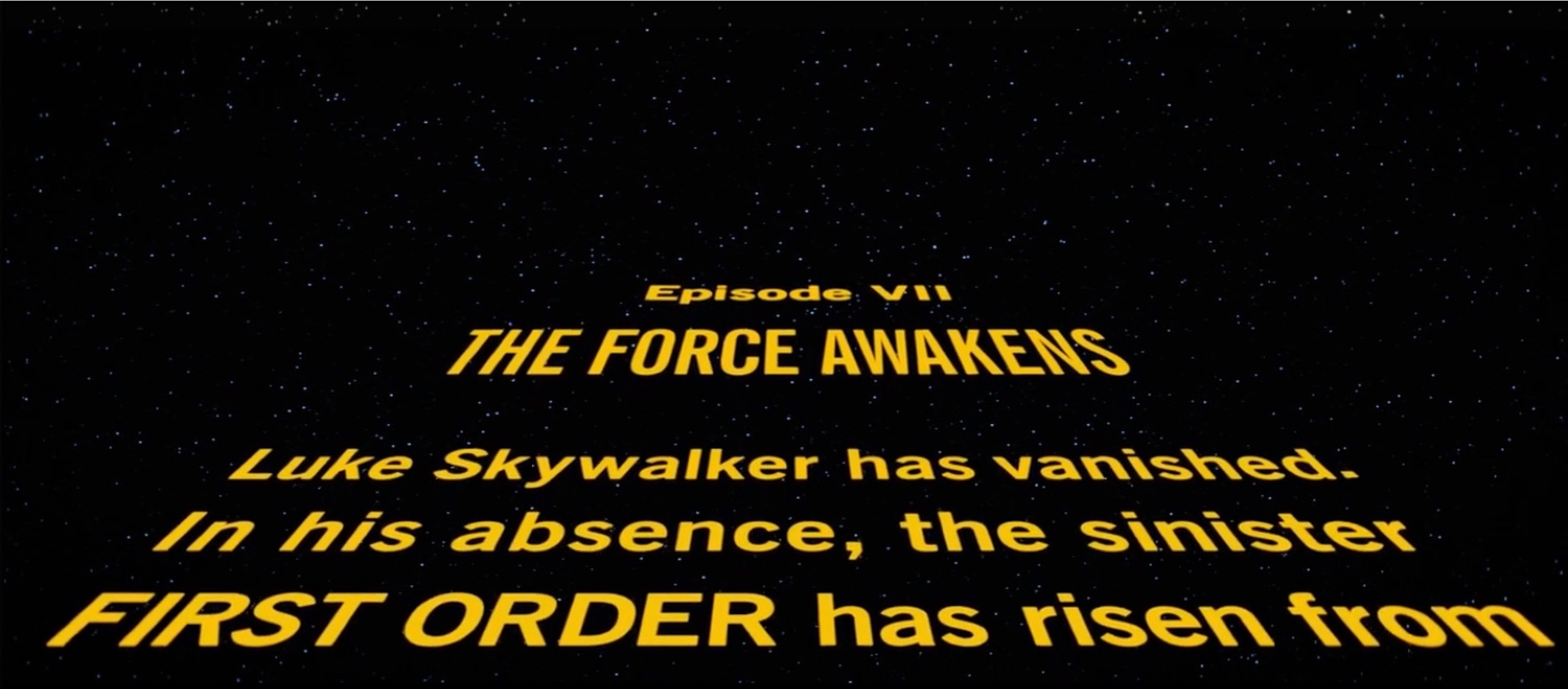 star wars the force awakens opening crawl typography is wrong. Black Bedroom Furniture Sets. Home Design Ideas