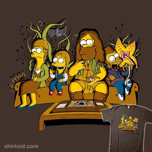 Mashup Jumanji and The Simpsons t-shirt
