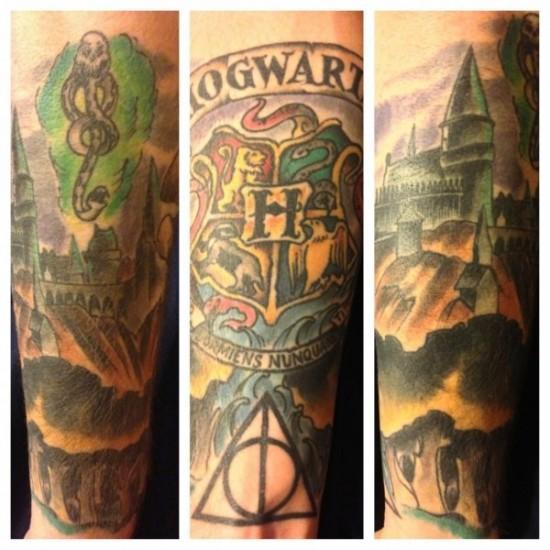 Harry Potter Half Sleeve Tattoo