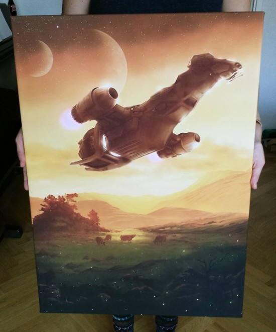 Serenity Flies Again In This Shiny Fan Painting